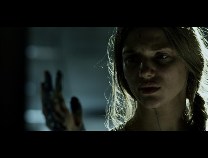 Tracy Spiridakos as 'Blue' in Mortal Kombat!
