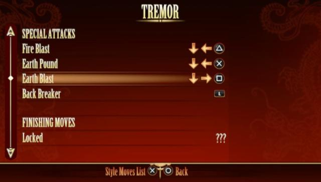 Tremor Gets Appropriate Moveset in PSVita!