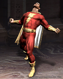 Captain Marvel as he appeared in Mortal Kombat vs DC Universe