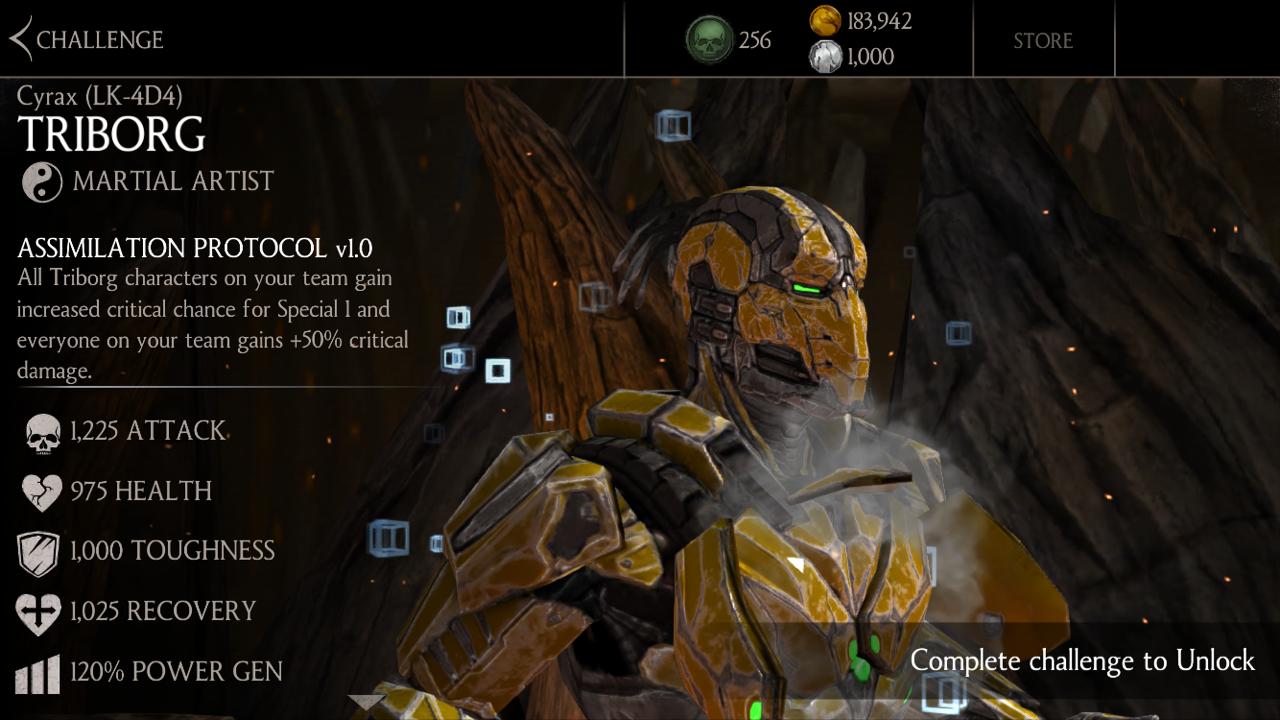Mortal Kombat X Mobile - Cyrax Tri-Borg Challenge - Mortal