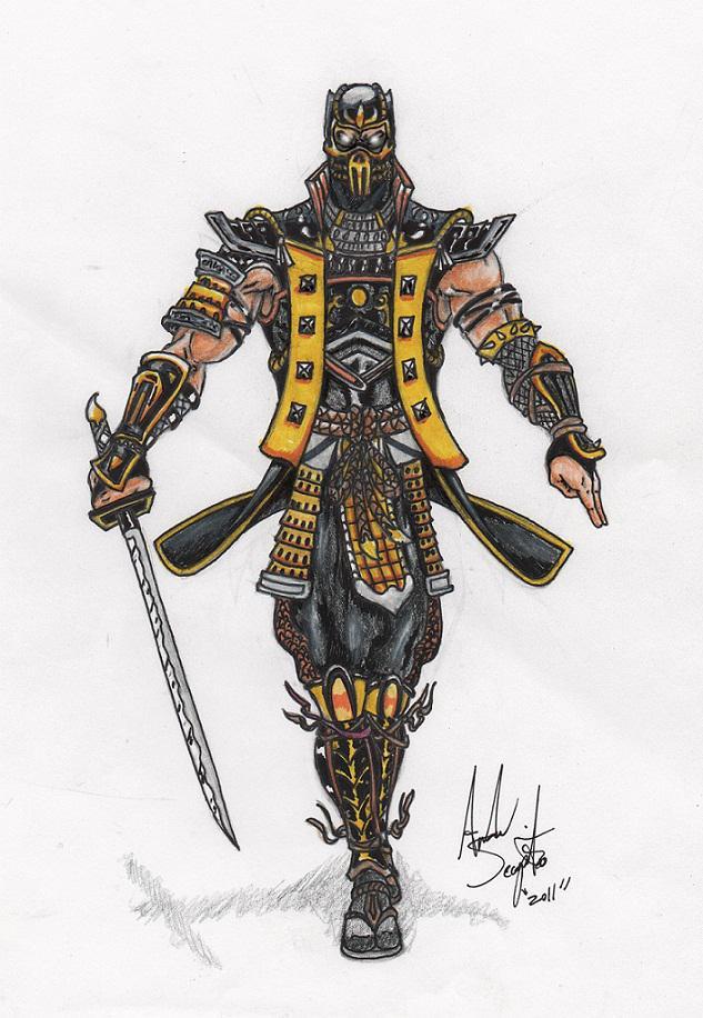 Scorpion Design 2 Mortal Kombat Online