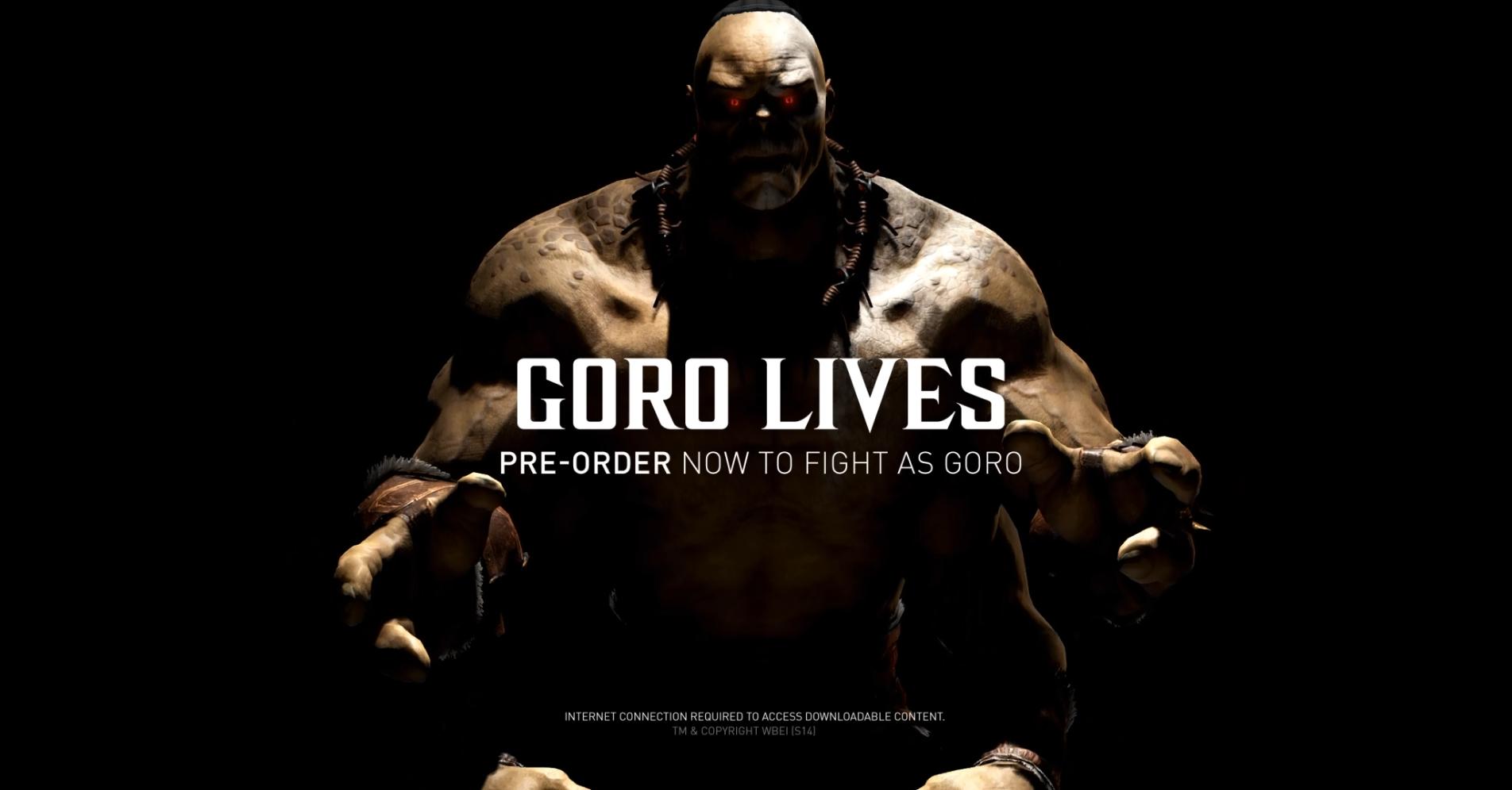 Goro Lives - All Access Mortal Kombat X Streaming Event - Mortal