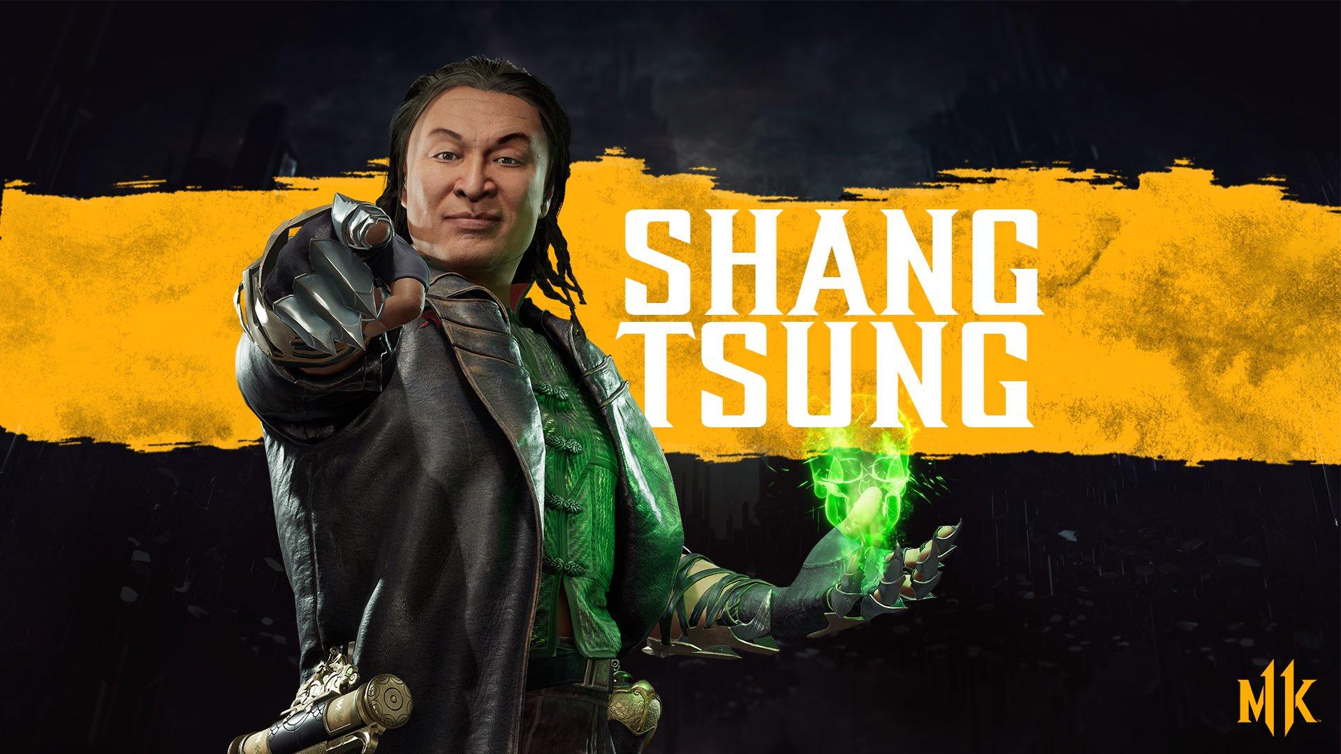 New Shang Tsung Mortal Kombat 11 Character Render Mini Bio