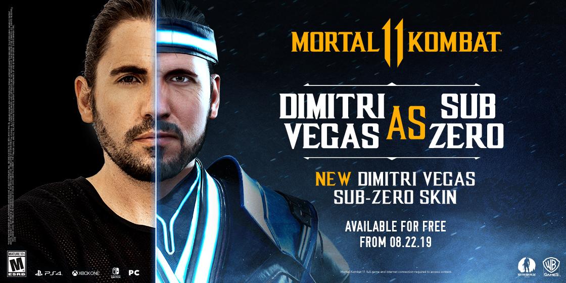 Dimitri Vegas Sub-Zero Skin Coming to Mortal Kombat 11